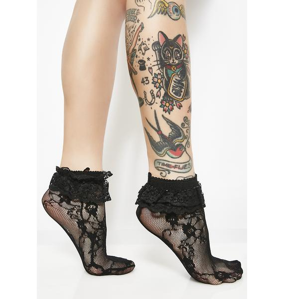 Babydoll Bloom Lace Socks