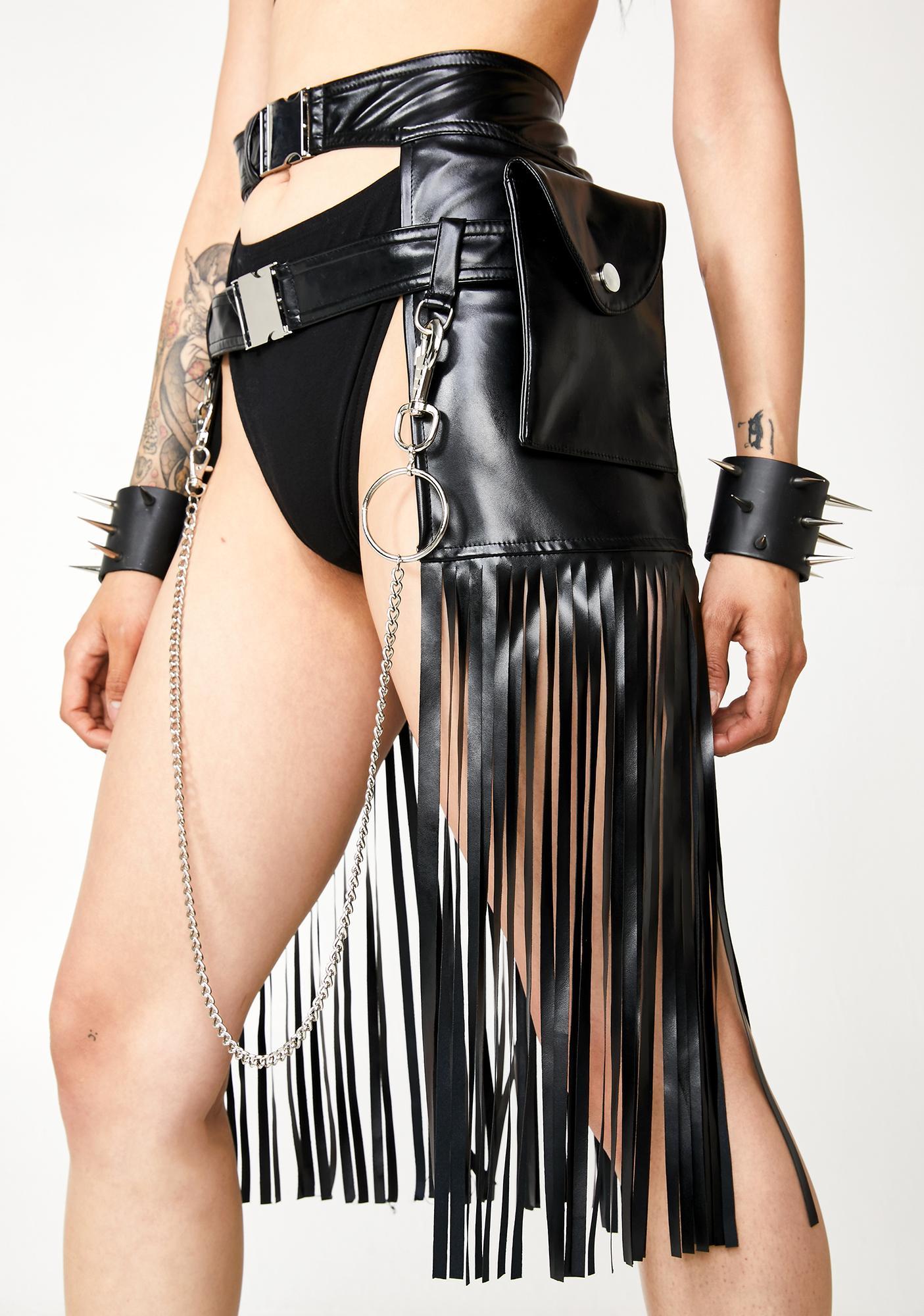 Kiki Riki Dystopia Fringe Holster Skirt