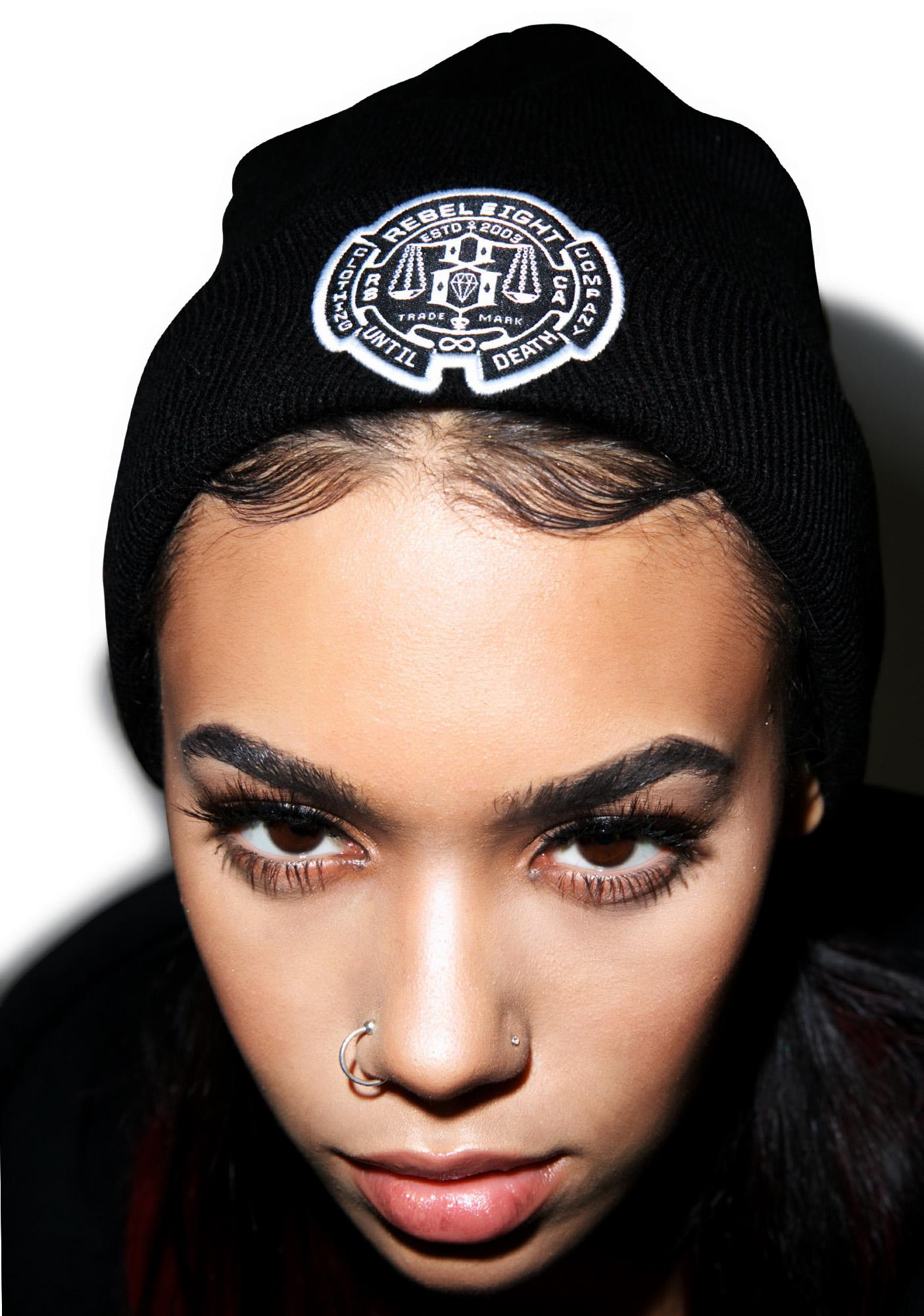 Rebel8 Until Death Cuffed Beanie