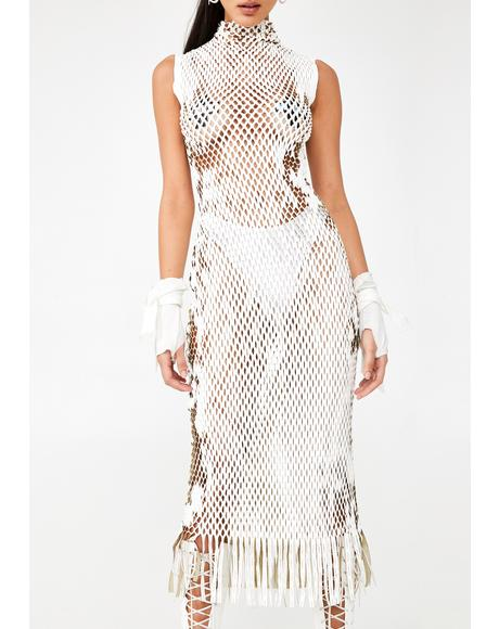 Dysphoria Dream Fishnet Dress