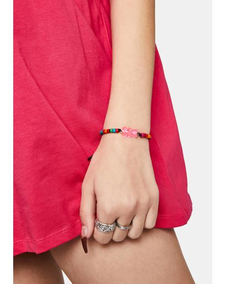 She's My Teddy Bear Beaded Bracelet