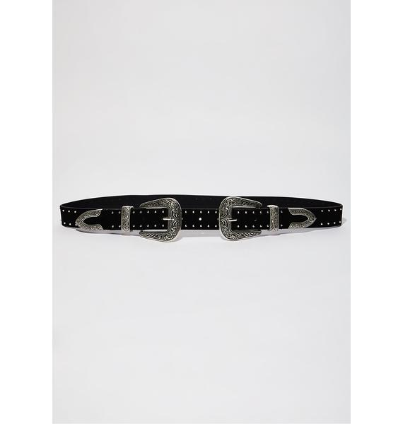 Onyx Wild Adventure Double Buckle Belt