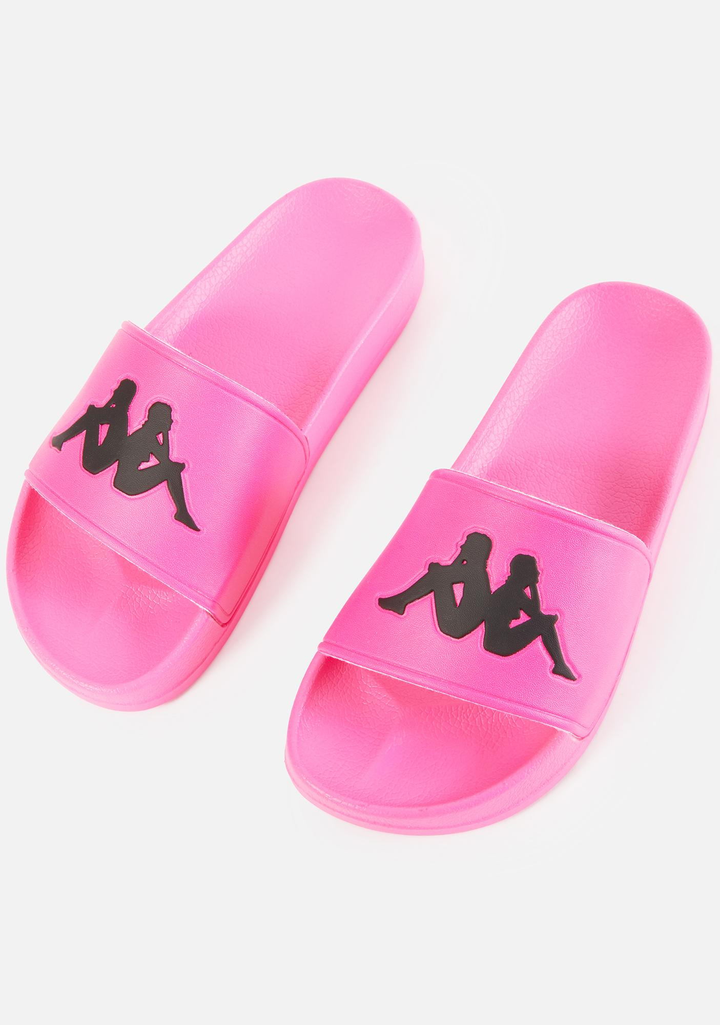 Kappa Neon Pink Authentic Adam 2 Slide Sandals