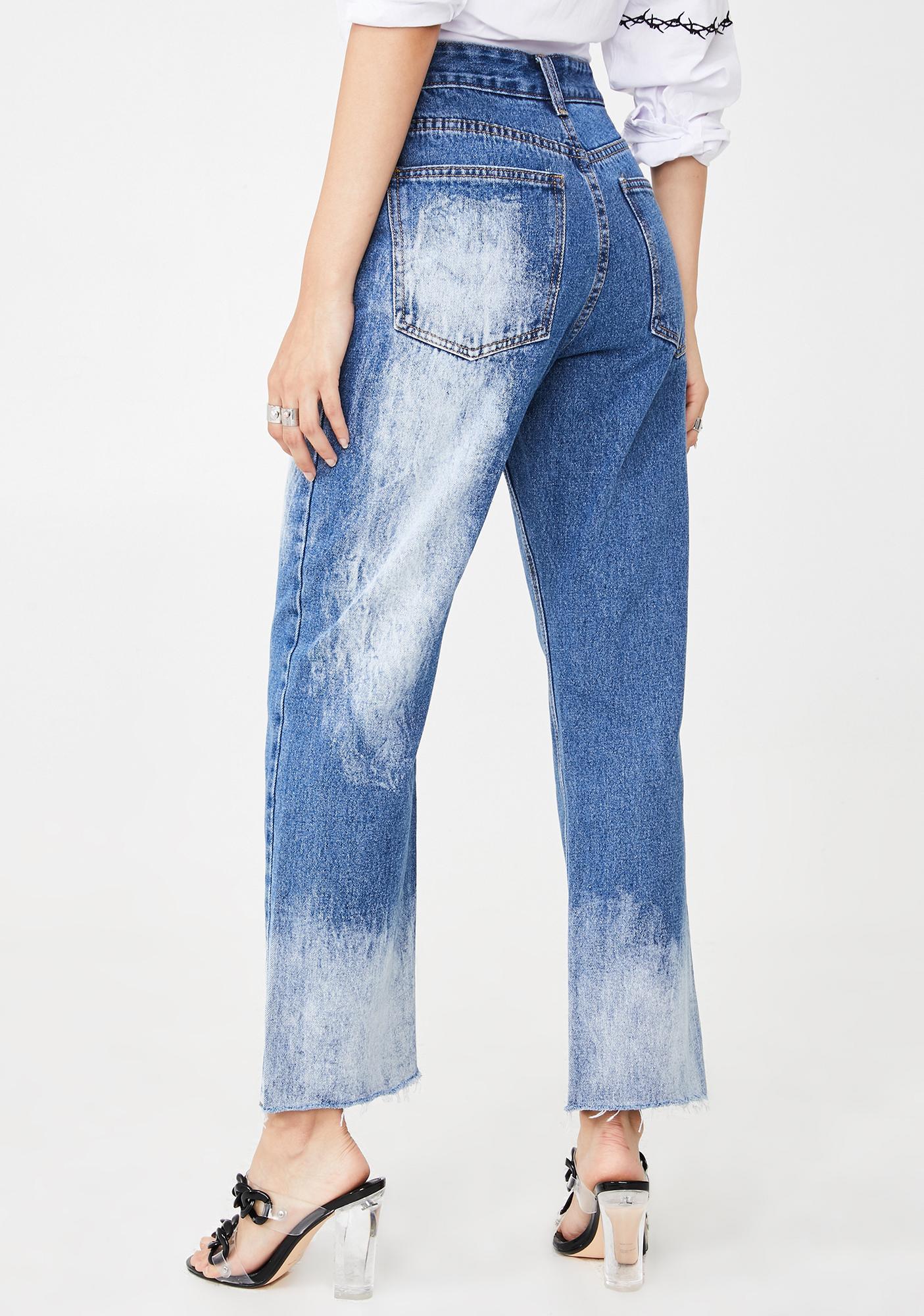 Momokrom Bleached Straight Leg Jeans