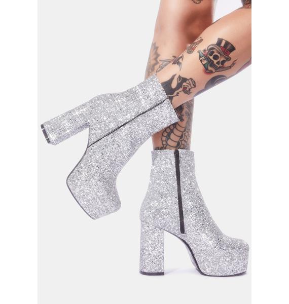 Lamoda Platinum Party Time Glitter Boots