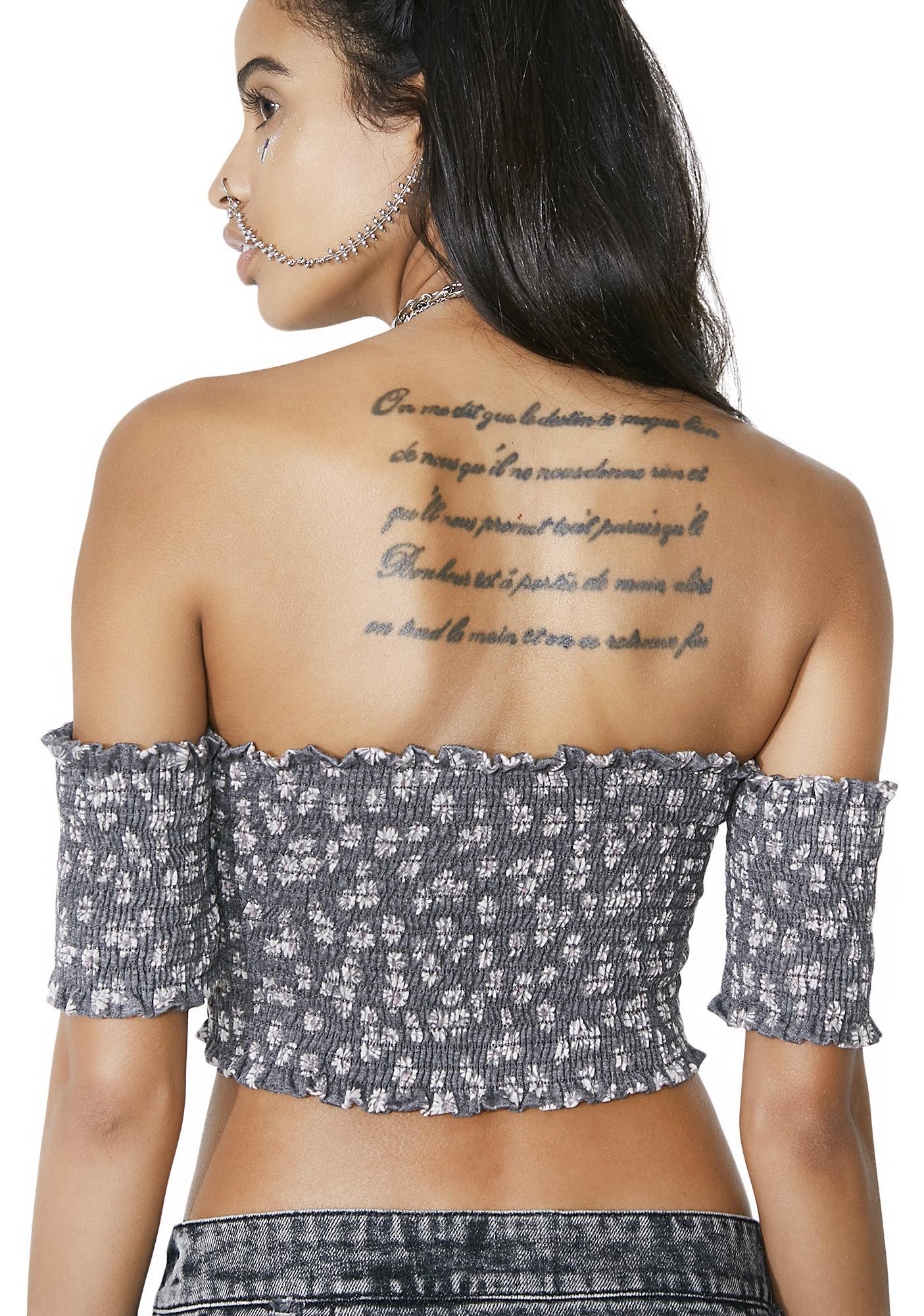 Elegy Off-Shoulder Crop Top