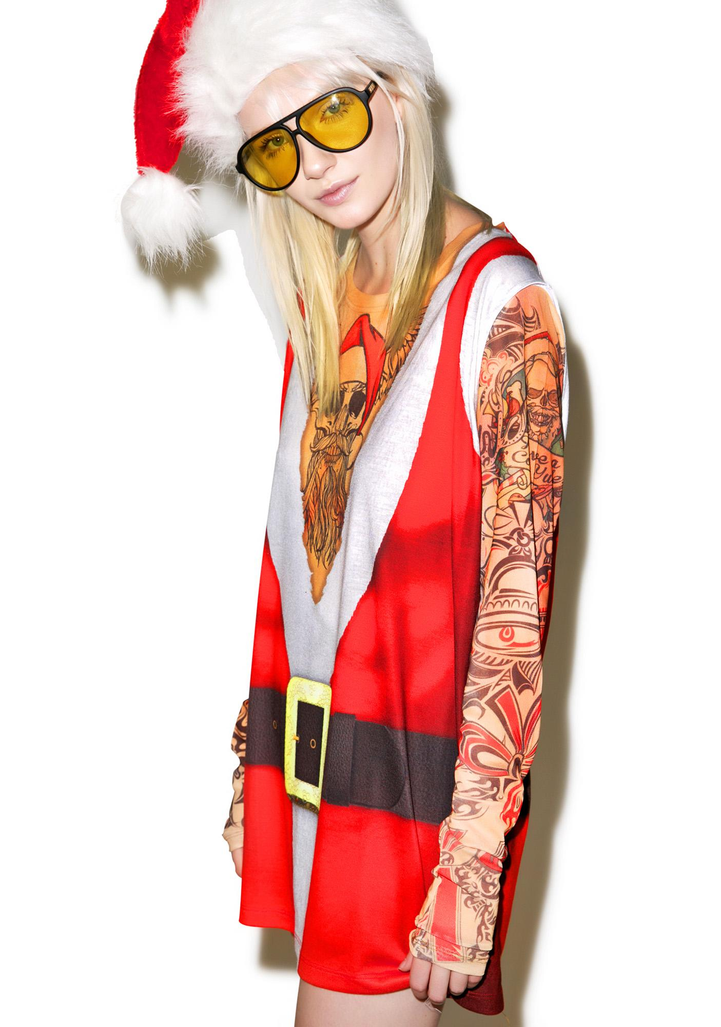 Satanic Santa Tattoo Tee