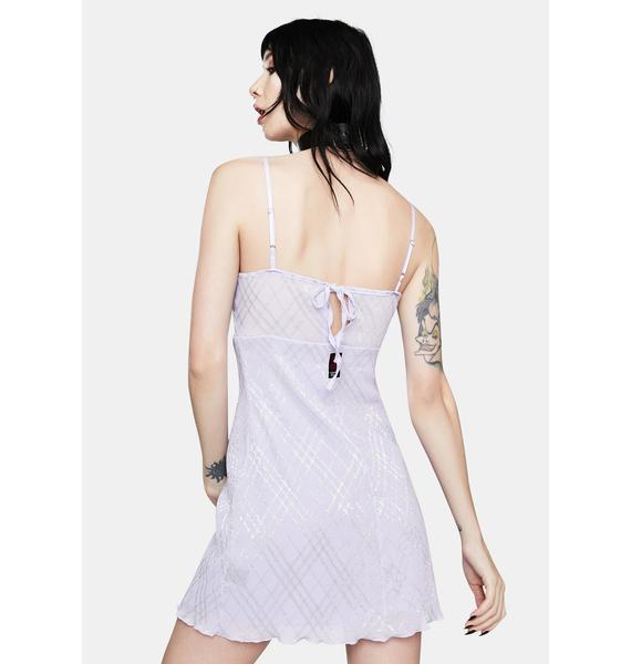 GANGYOUNG Light Purple Moonlight Mini Dress