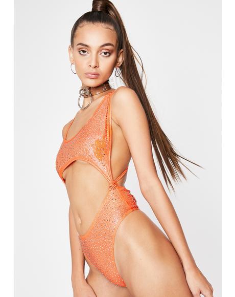 Citrus Freak Affair Cut Out Bodysuit