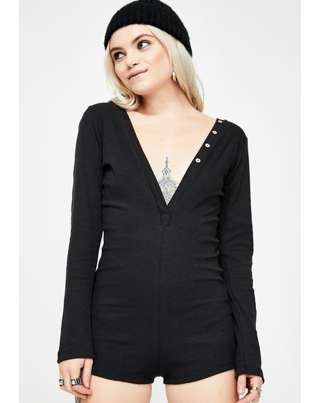 Delightful Dreamin' Long Sleeve Romper