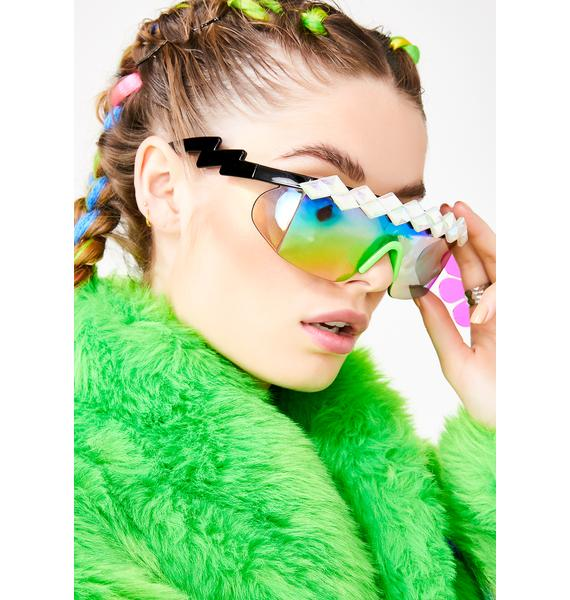 Rad and Refined Sparkle Sport Sunglasses