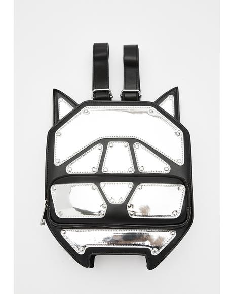 Techno Kitty Metallic Backpack