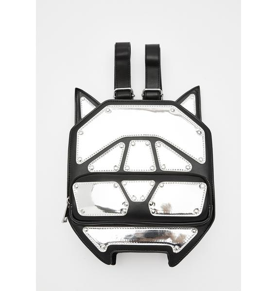 Club Exx Techno Kitty Metallic Backpack