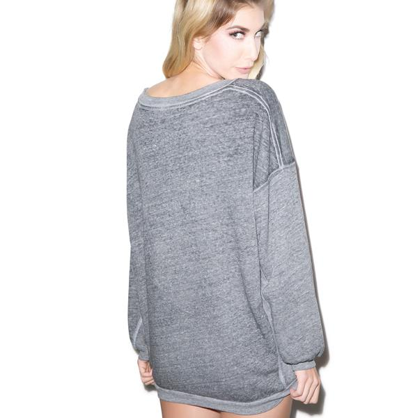 Rebel Yell West Coast Strokes Warm Up Pullover