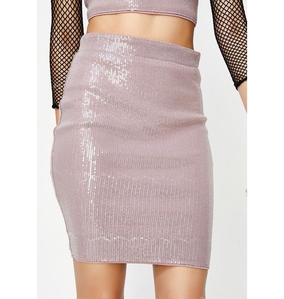 Obey Me Sequin Skirt