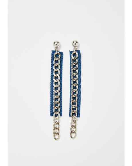 Country Chic Chain Earrings