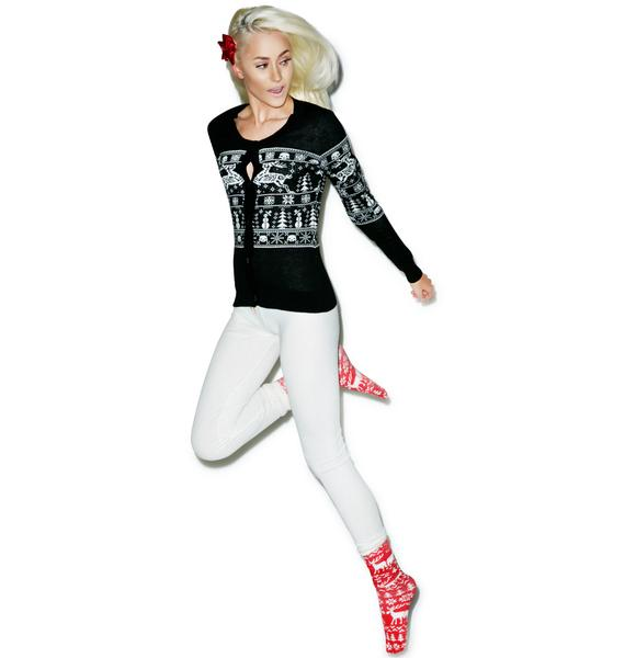Sourpuss Clothing Sleigh Me Cardigan
