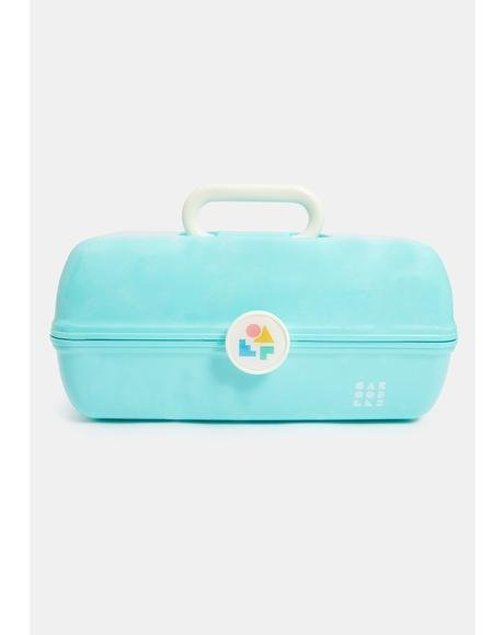 On The Go Girl Seafoam Marble Caboodle