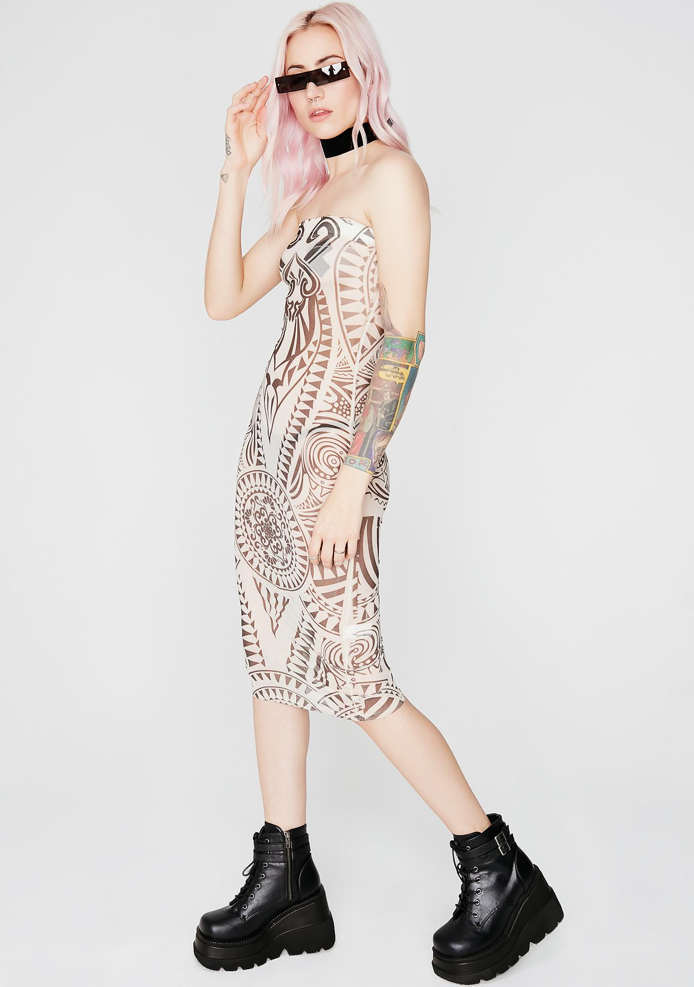 Perfect Illusion Strapless Dress