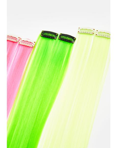 Mixed Neon Hair Extensions