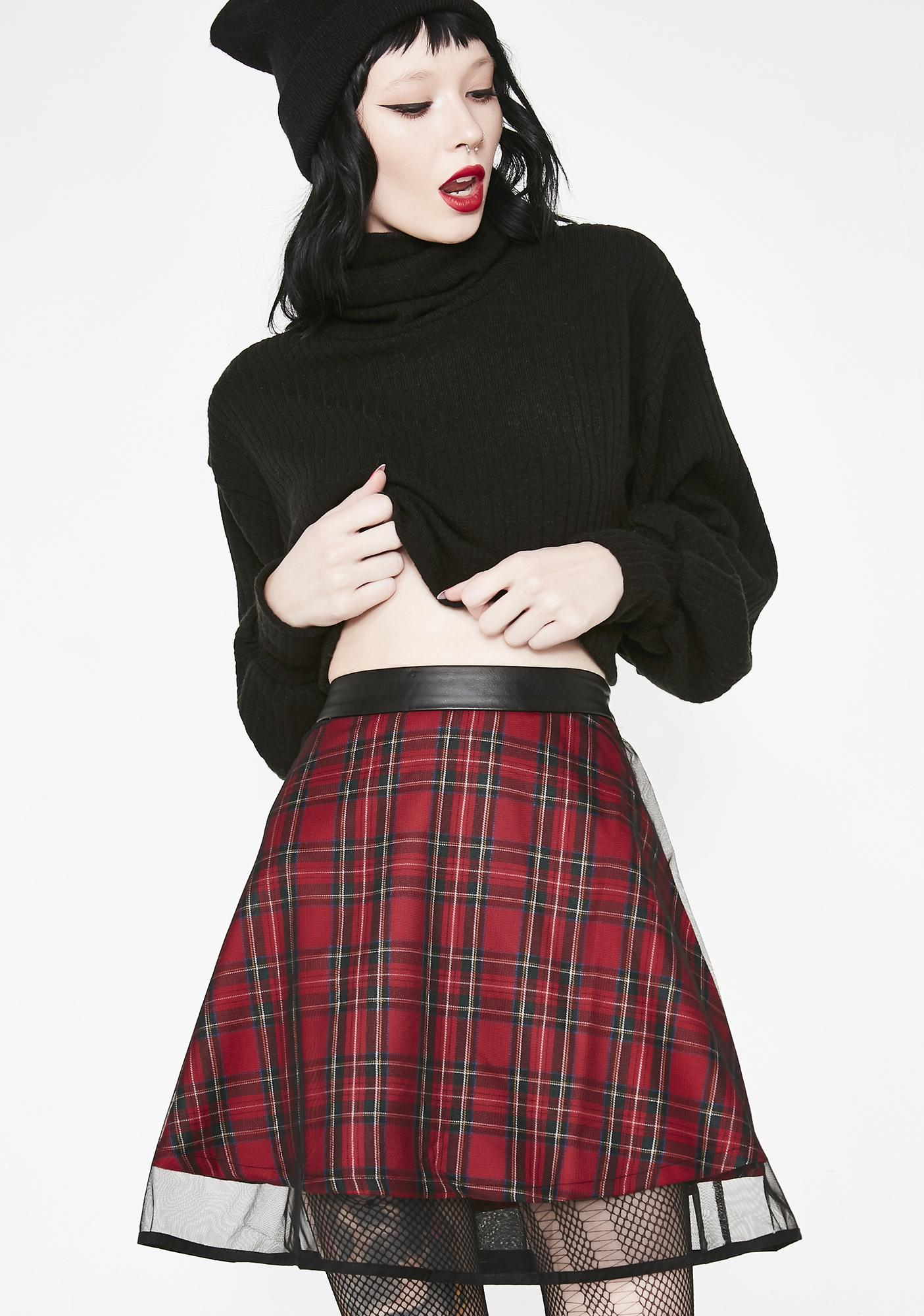 Plagiarism Two Layer Skirt