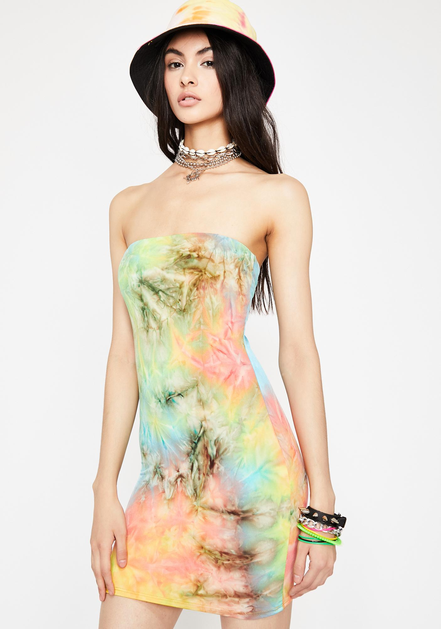 Prismatic Finesse Tie Dye Dress