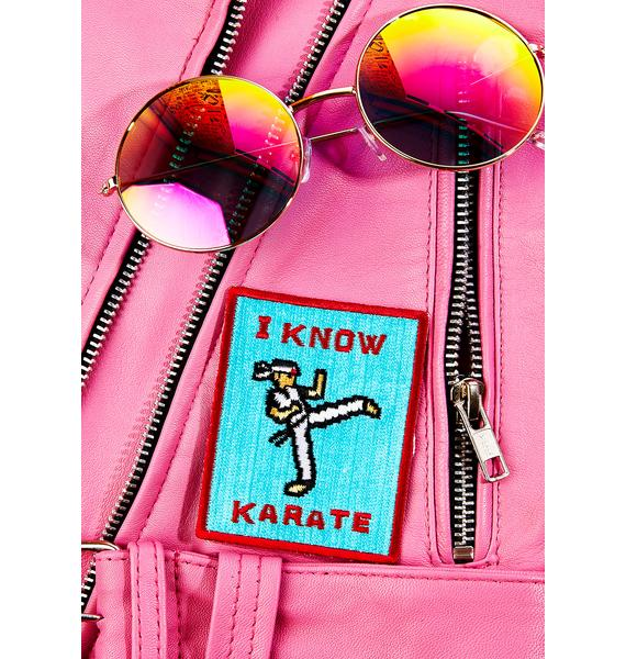 Pop Killer I Know Karate Patch