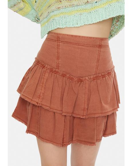 Ruffles In The Sand Skirt