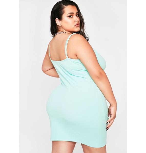 Seafoam Gotta Gimme More Bodycon Dress