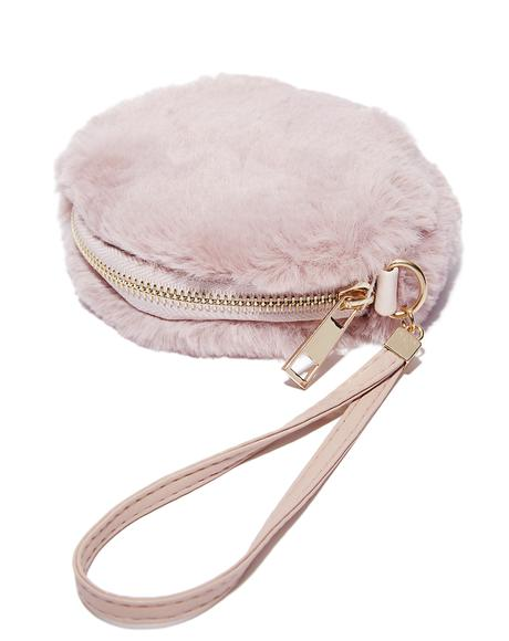 Don't Touch Fuzzy Wristlet
