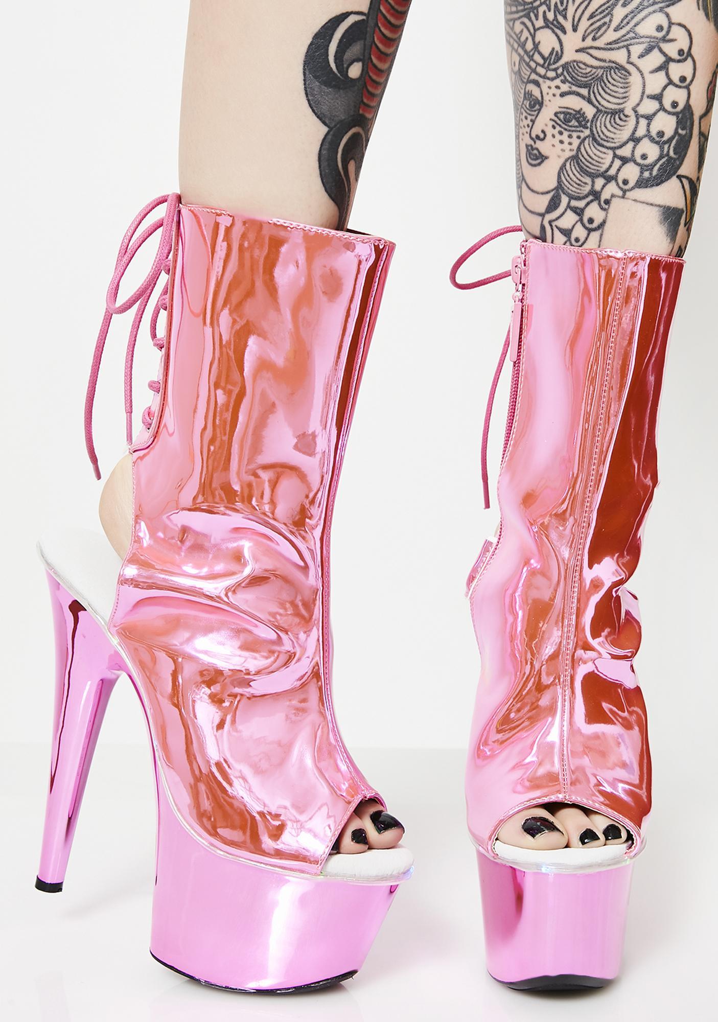 Lady Lit Fetish Platform Heels