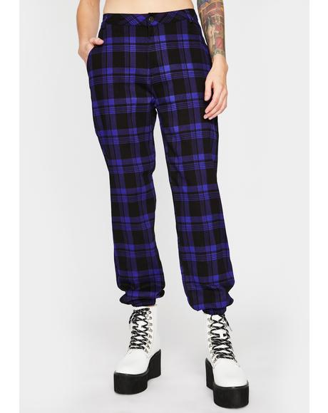 Plum Misconduct Plaid Joggers