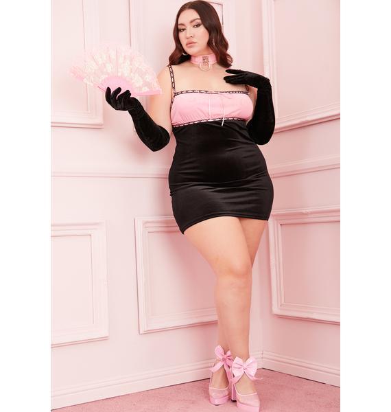 Sugar Thrillz PPS I Love You Velvet Dress