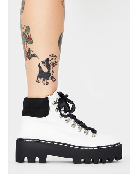 White Remedy Platform Boots