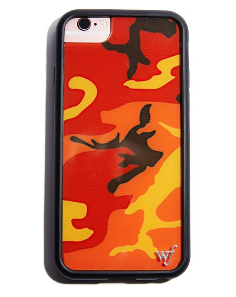 Orange Camo iPhone Case