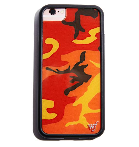 Wildflower Orange Camo iPhone Case