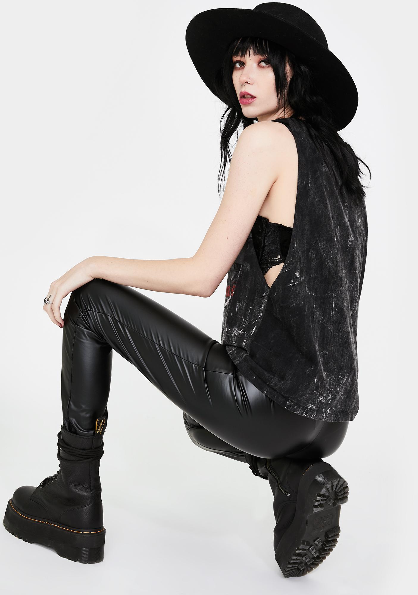 Killstar Helena Faux Leather Leggings