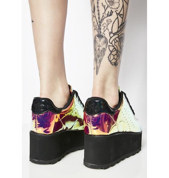 Y.R.U. Lala Pink Atlantis Platform Sneakers