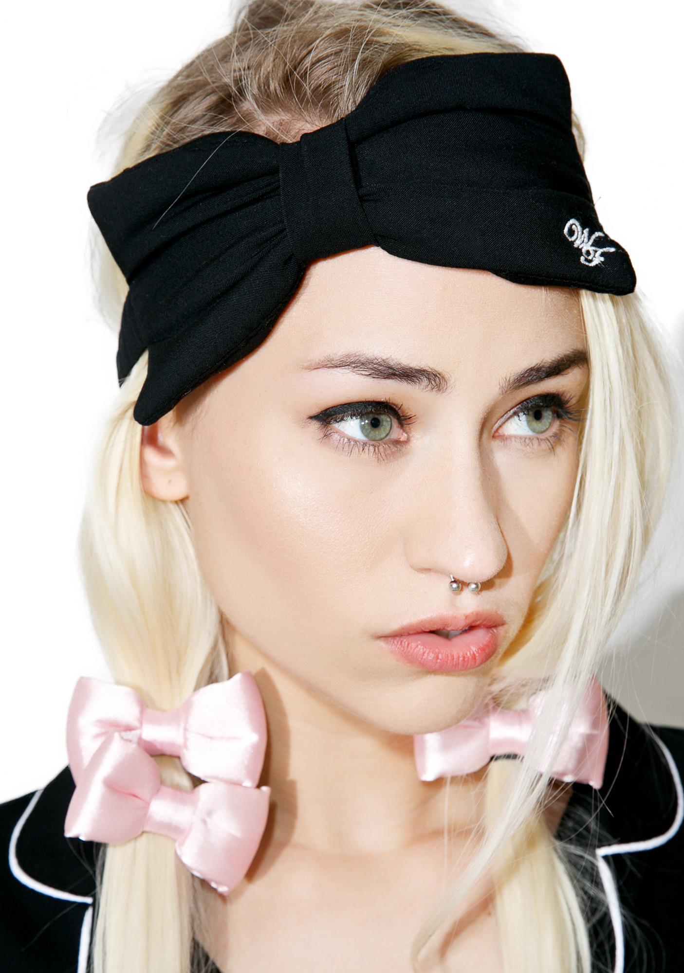 Wildfox Couture WF Logo Bow Eye Mask