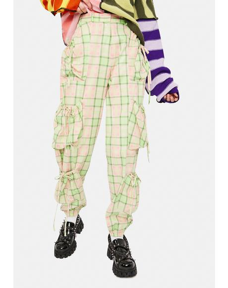 Symbol Plaid Cargo Pants