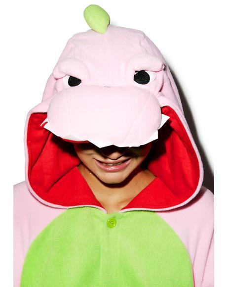 Pink Dinosaur Kigurumi