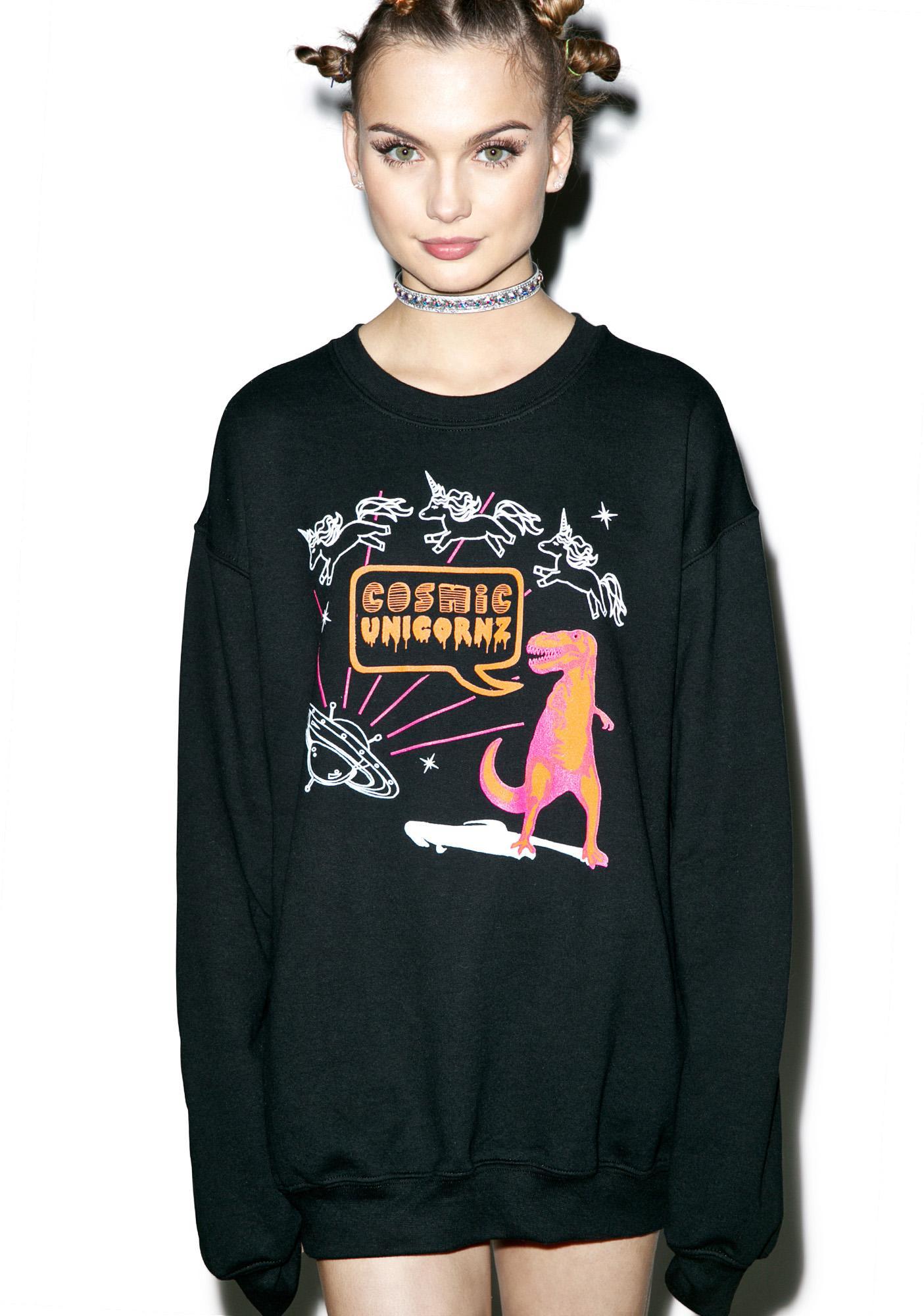 Cosmic Unicornz Unicornz In Space Sweatshirt
