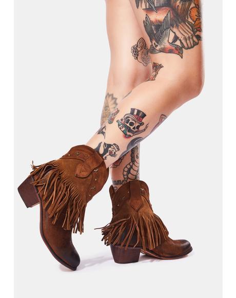 Rustic Love Fringe Cowboy Boots