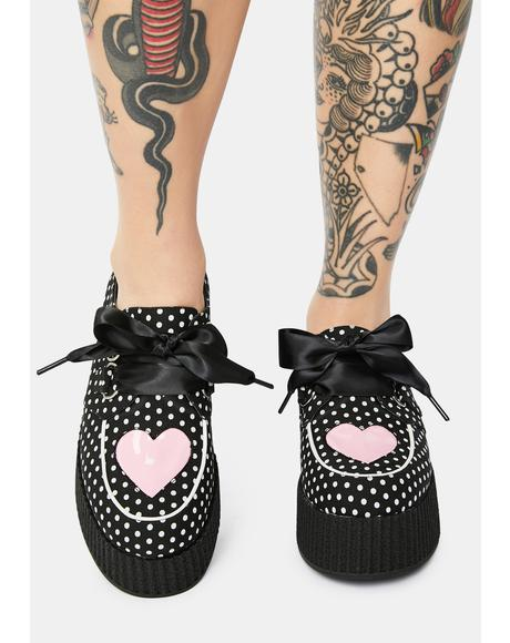 Sweetheart Polka Dot Platform Mary Janes
