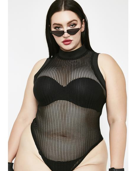 Down To Ride Sheer Bodysuit