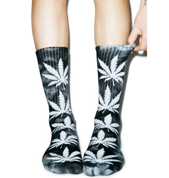 HUF Tie Dye Plantlife Crew Sock