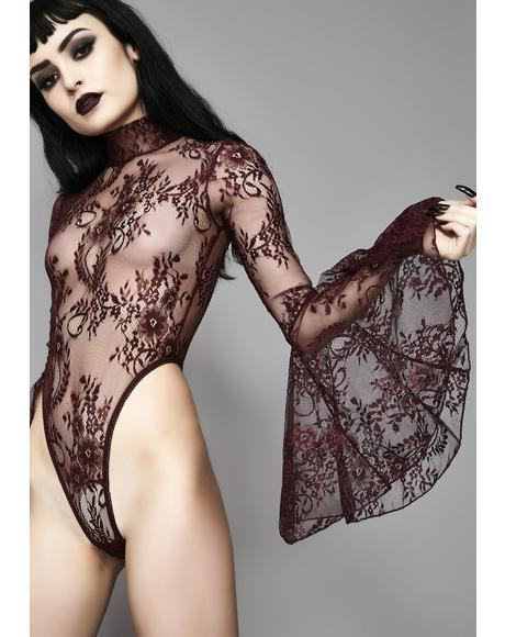 Wine Witching Hour Lace Bodysuit