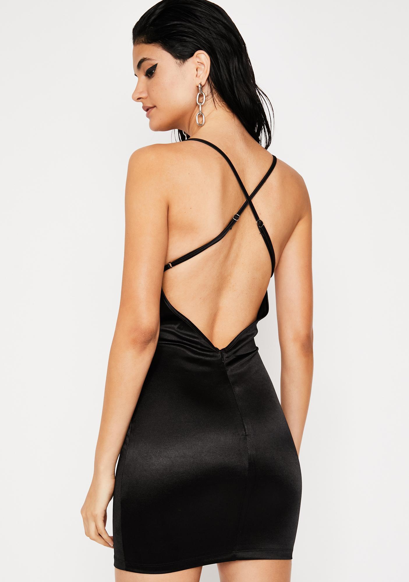 Bad Idea Satin Dress