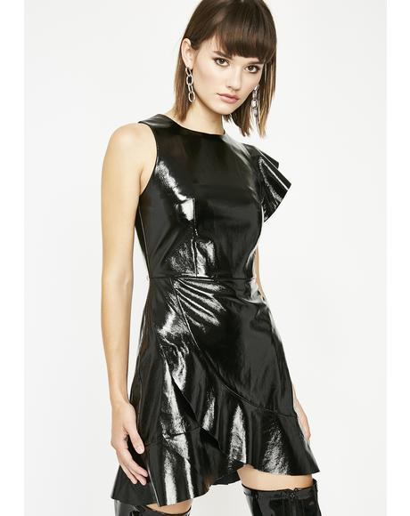 Dose Of Poison Vinyl Dress