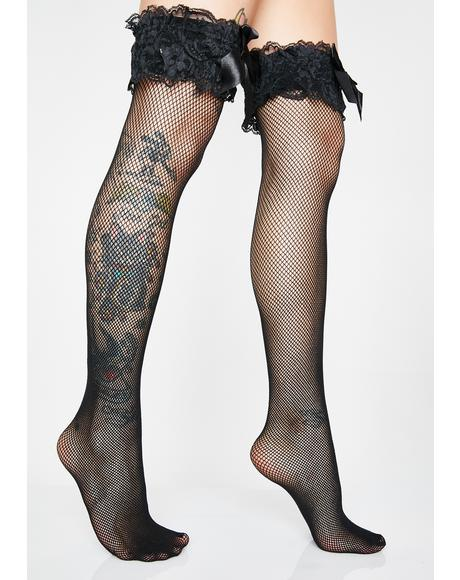 33779bfbb5d Come On Over Fishnet Thigh Highs ...